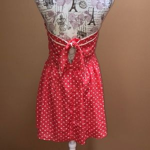 Forever 21 Dresses - Forever 21 pink Polka Dot Strapless Dress Large